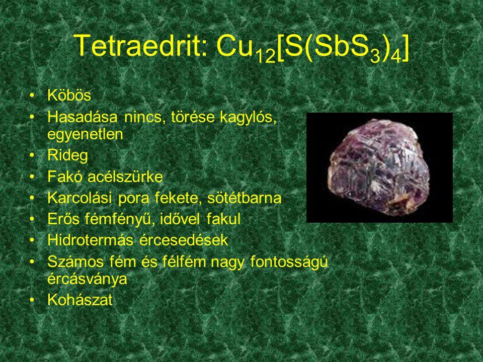 Tetraedrit: Cu12[S(SbS3)4]